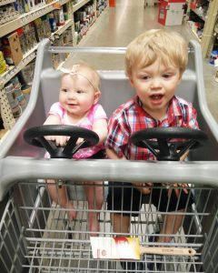 kids having fun at the store